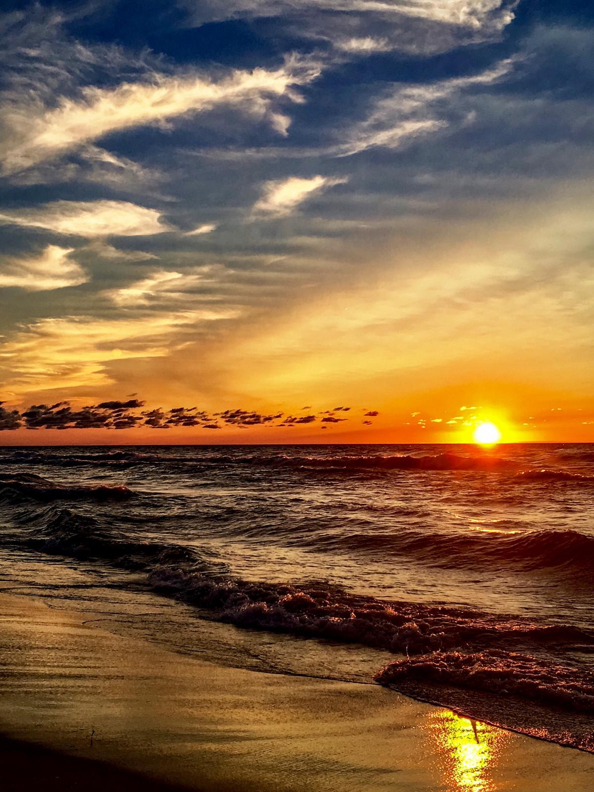 Картинки закат и море