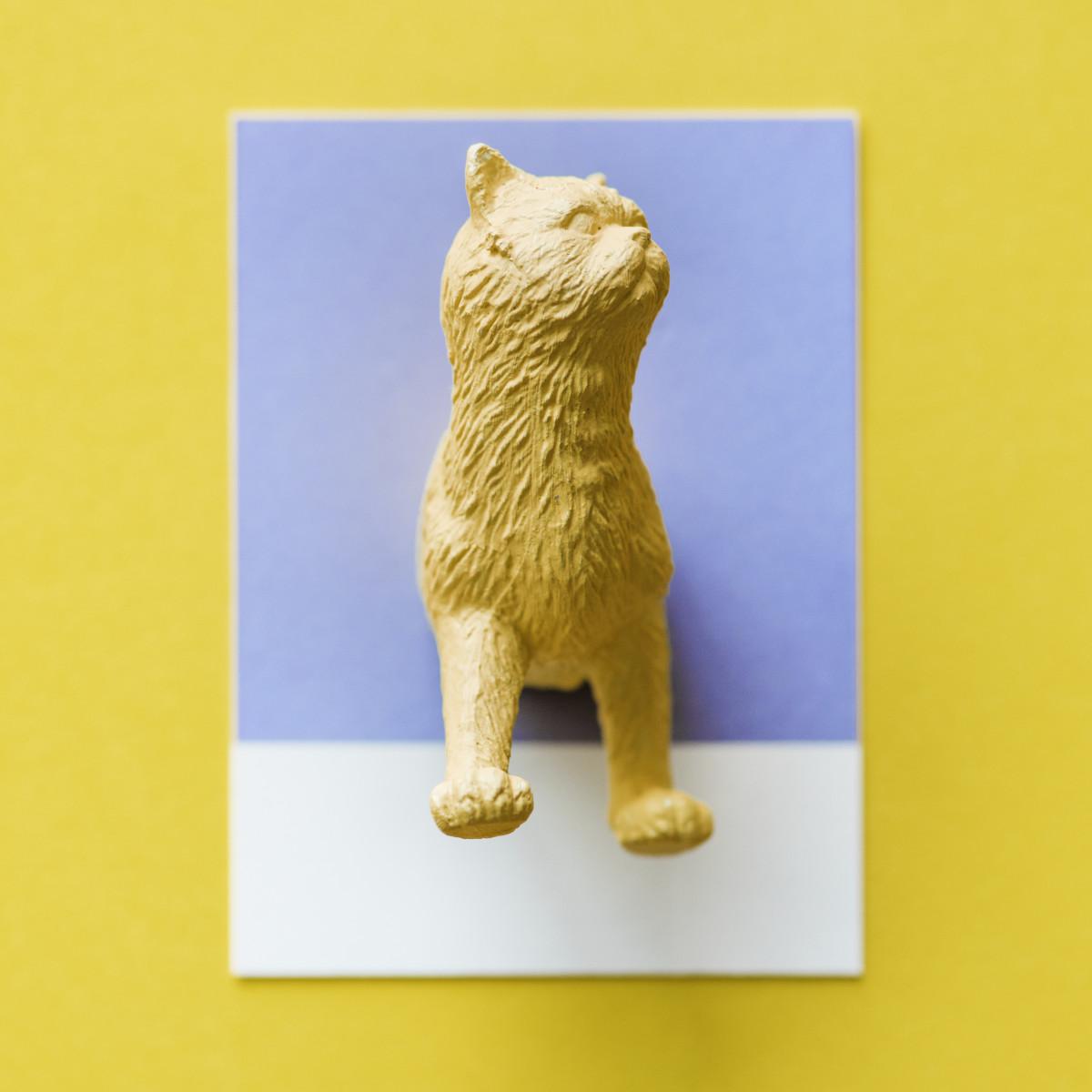 Banco De Imagens Abstrato Animal Arte Fundo Cartao Gato