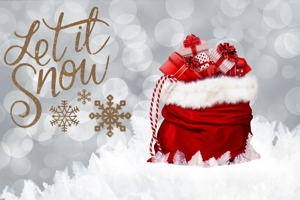 Gratis Afbeeldingen Sneeuw Gift Rood Kerstmis