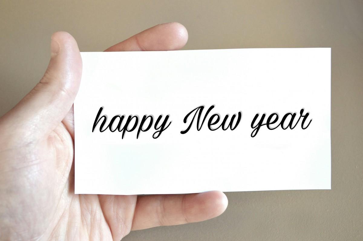Kostenlose foto : Frohes neues Jahr, Hand, Gruß, Karte, Feier ...