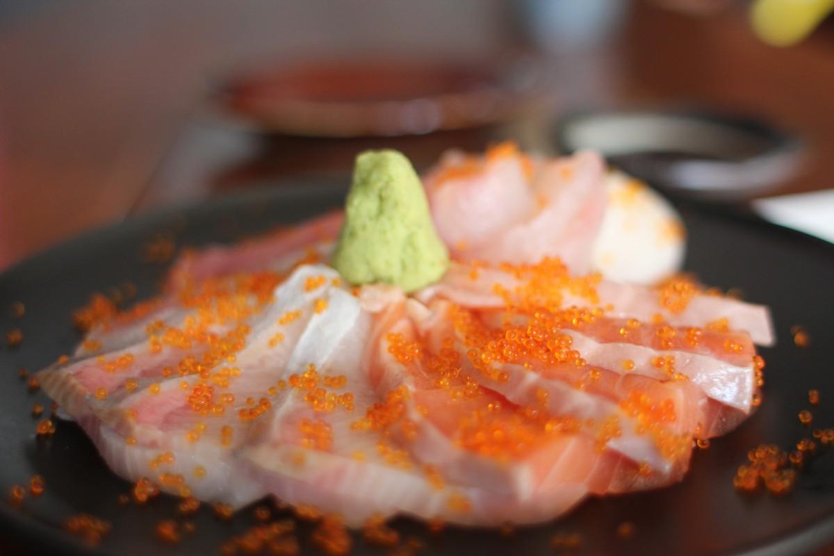 Free images salmon sashimi sushi wasabi japanese for Is sushi raw fish