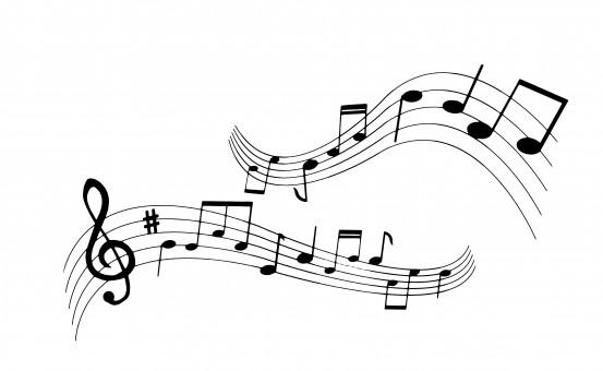 kostenlose foto : silhouette, musical, hinweis