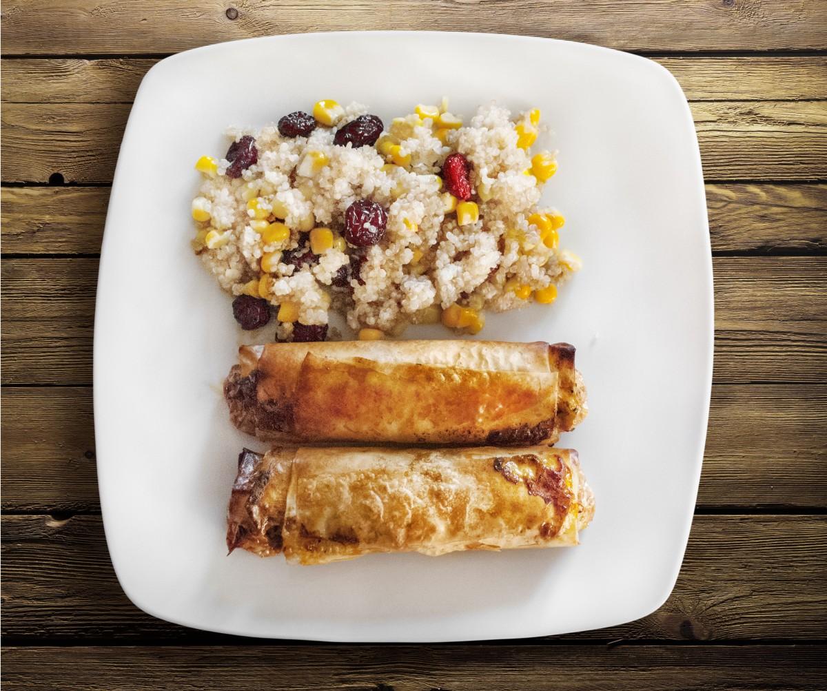 Kostenlose foto : Rollen, Couscous, Salat Huhn, Gericht, Küche ...