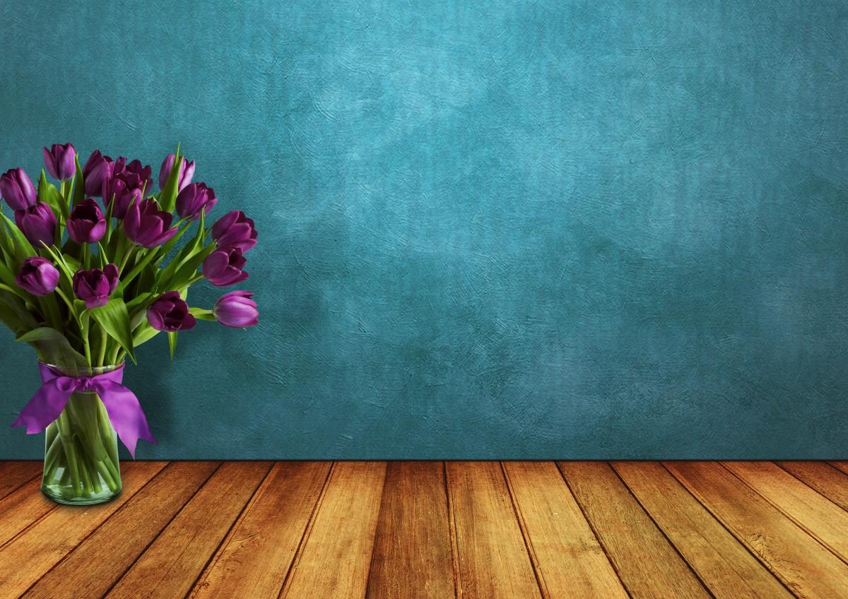 Fondos De Pantalla Madera Hd Vintage Para Fondo Celular En: Free Images : Tulips, Room, Wood, Vase, Wall, Ribbon