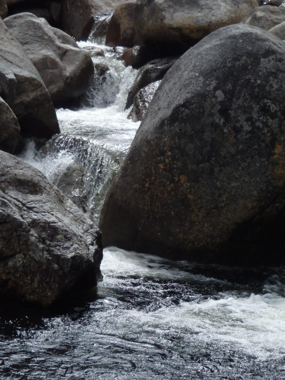 Free stream river rocks pretty mountain body of water