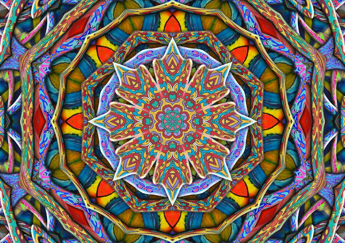Free Images Mandala Meditation Pattern Psychedelic