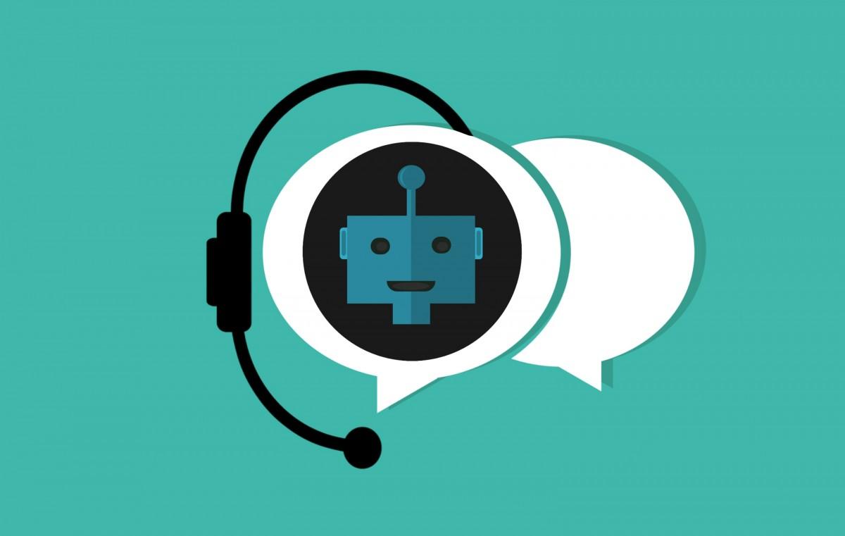 chatbot, Bot, assistant, soutien, icône, intelligence, virtuel, artificiel, robot, bavarder, un service, social, En ligne, bulle, parler, réseau, dialogue, programme, interactif, message, utilisateur, App, bavarder, discours, Chatterbot, vert, turquoise, aqua, logo, écouteurs, illustration, équipement audio, La technologie, gadget, appareil électronique, graphique, symbole, conception graphique, cercle