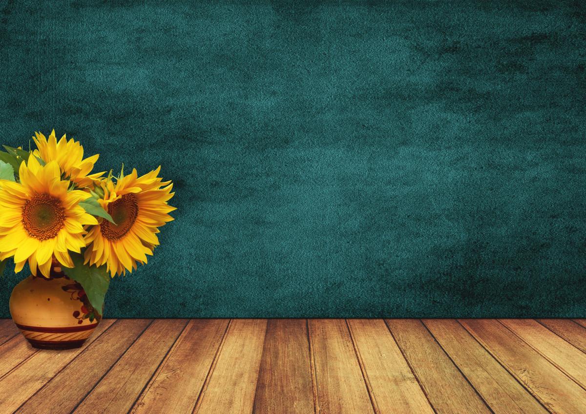 Fondos De Pantalla Madera Hd Vintage Para Fondo Celular En: Free Images : Sunflowers, Room, Wood, Vase, Wall, Vintage