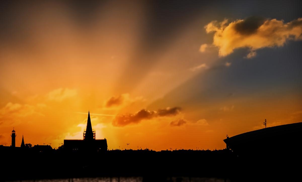 Gambar Matahari Terbit Bornholm Light Mood Bersinar Sinar