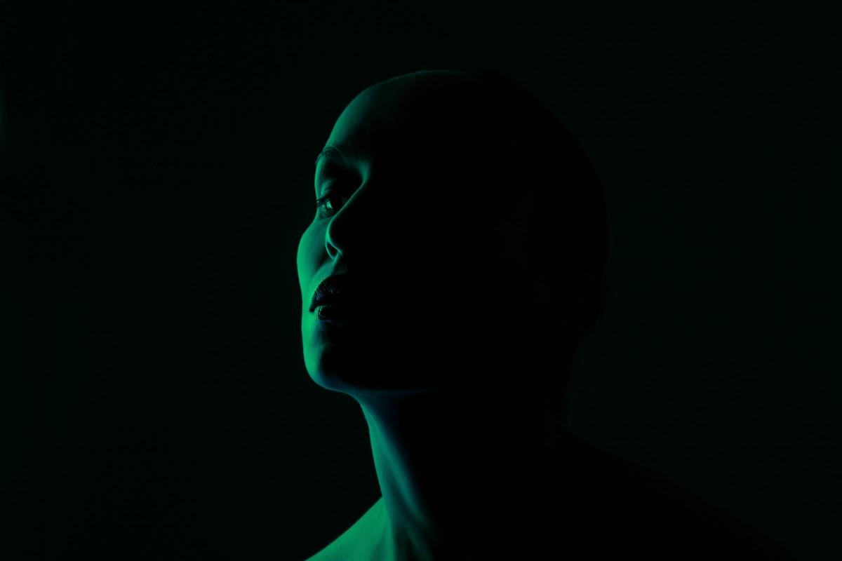 woman, dark, darkness, beauty, green, portrait, light, female, skin, lighting, in, shadow, shadows, creative, black, backlighting, head, human, photography, flash photography
