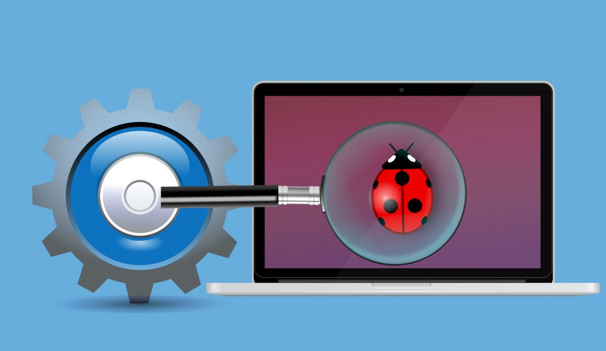escanear sistema error virus malware buscar error código guión ordenador portátil alerta solicitud debug Hacker aumentador notificación suplantación de identidad programador Ransomware estafa software tecnología advertencia seguridad antivirus