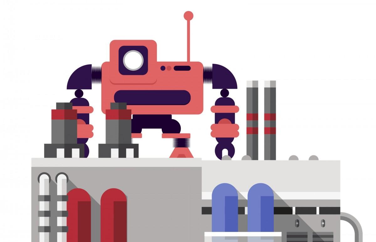 robot automatización fábrica industria máquina equipo Ingenieria trabajo Robótico tecnología producción mecánico fabricar metal proceso Tecnología taller dispositivo línea fuente ilustración arquitectura clipart diseño gráfico personaje de ficción gráficos animación casa art