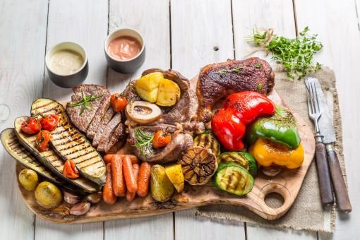 aliments,moi à,grillé,repas,dîner,assiette