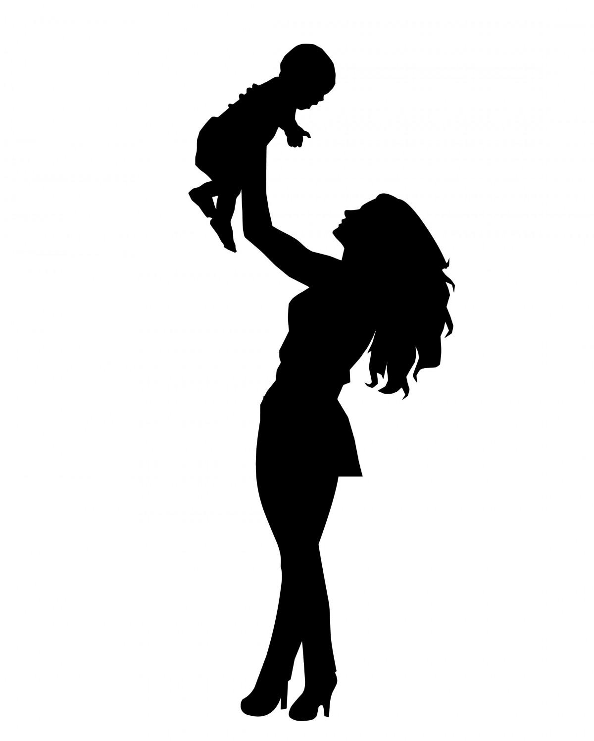 картинка силуэт матери задача