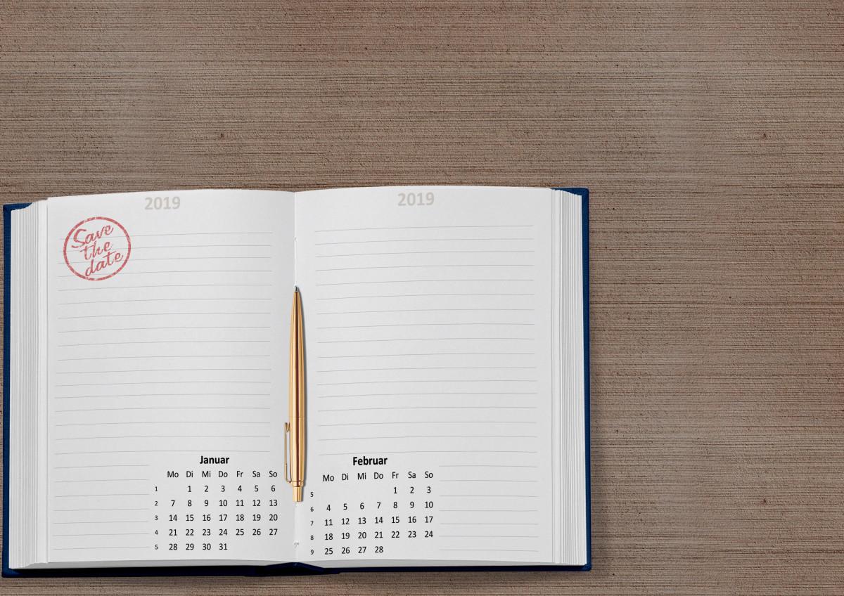 kostenlose foto kalender 2019 datum januar februar. Black Bedroom Furniture Sets. Home Design Ideas