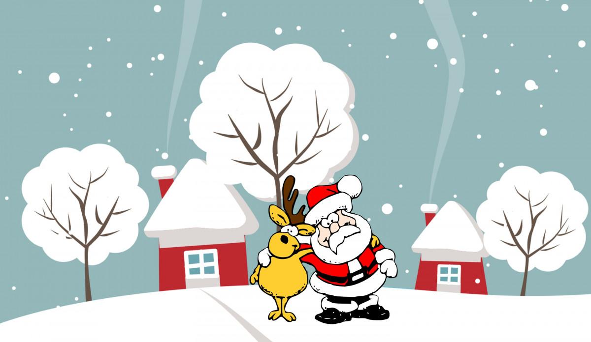 Images gratuites p re no l renne vacances saison - Ren des neige ...