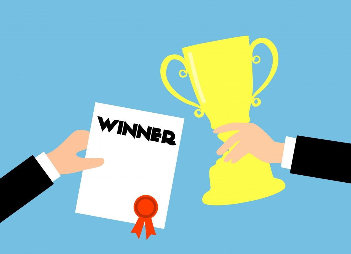 Immagini belle premio attività commerciale vincitore