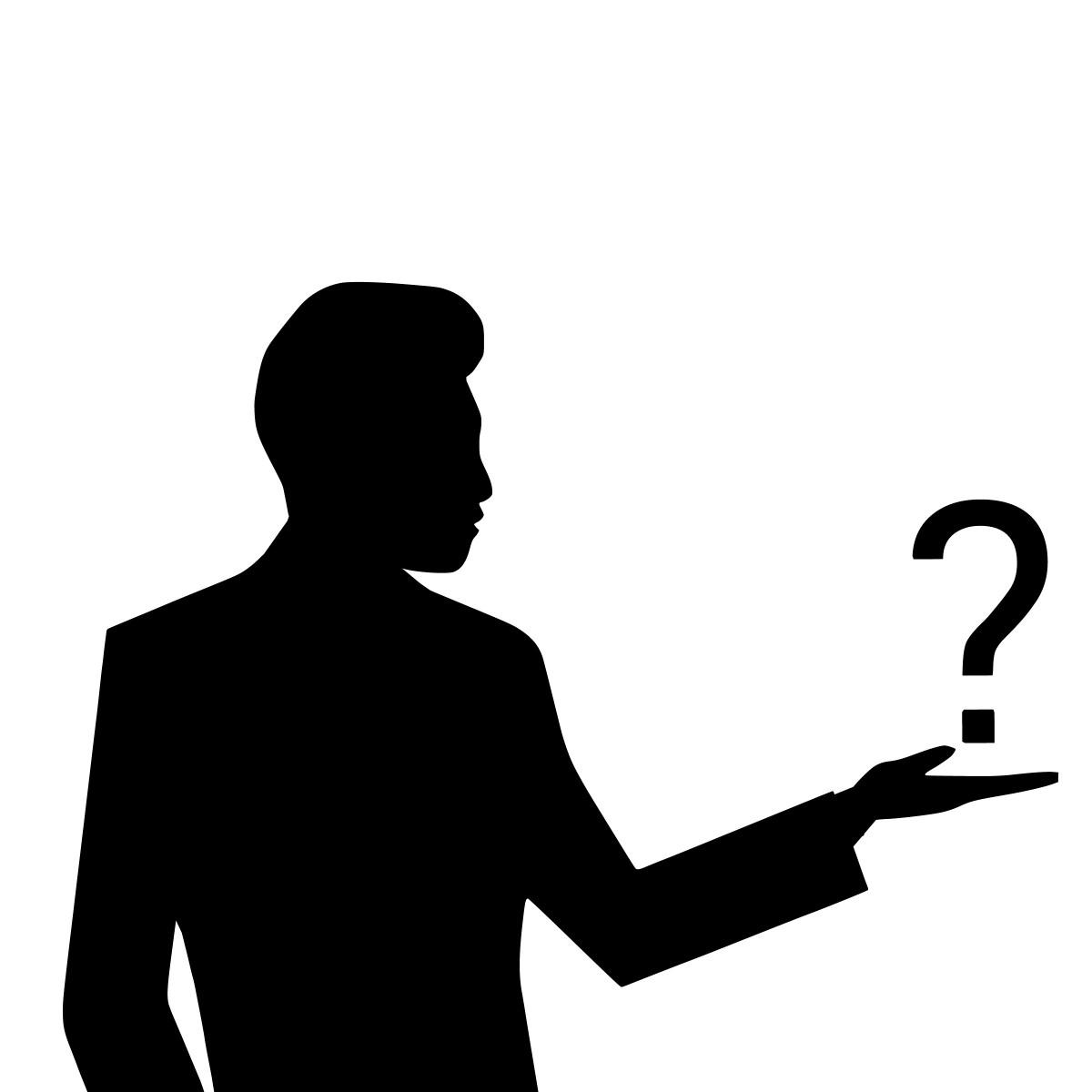 hình ảnh : Câu hỏi, dấu chấm hỏi, đố, bối rối, Huyền bí, tại sao, Faq, Hình bóng, Đàn ông, Người lớn, tự hỏi, Yêu cầu, kinh doanh, Tìm kiếm, Suy nghĩ,