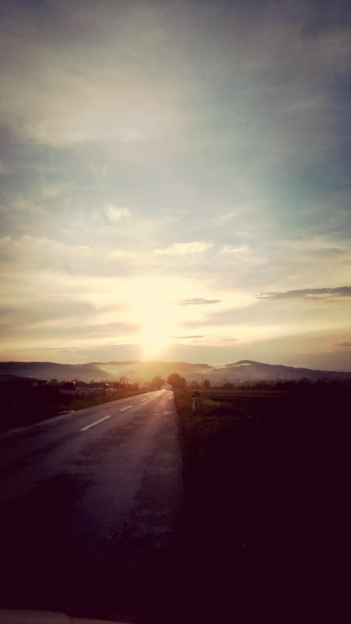 Kostenlose Foto Sonnenuntergang Straße Himmel Horizont