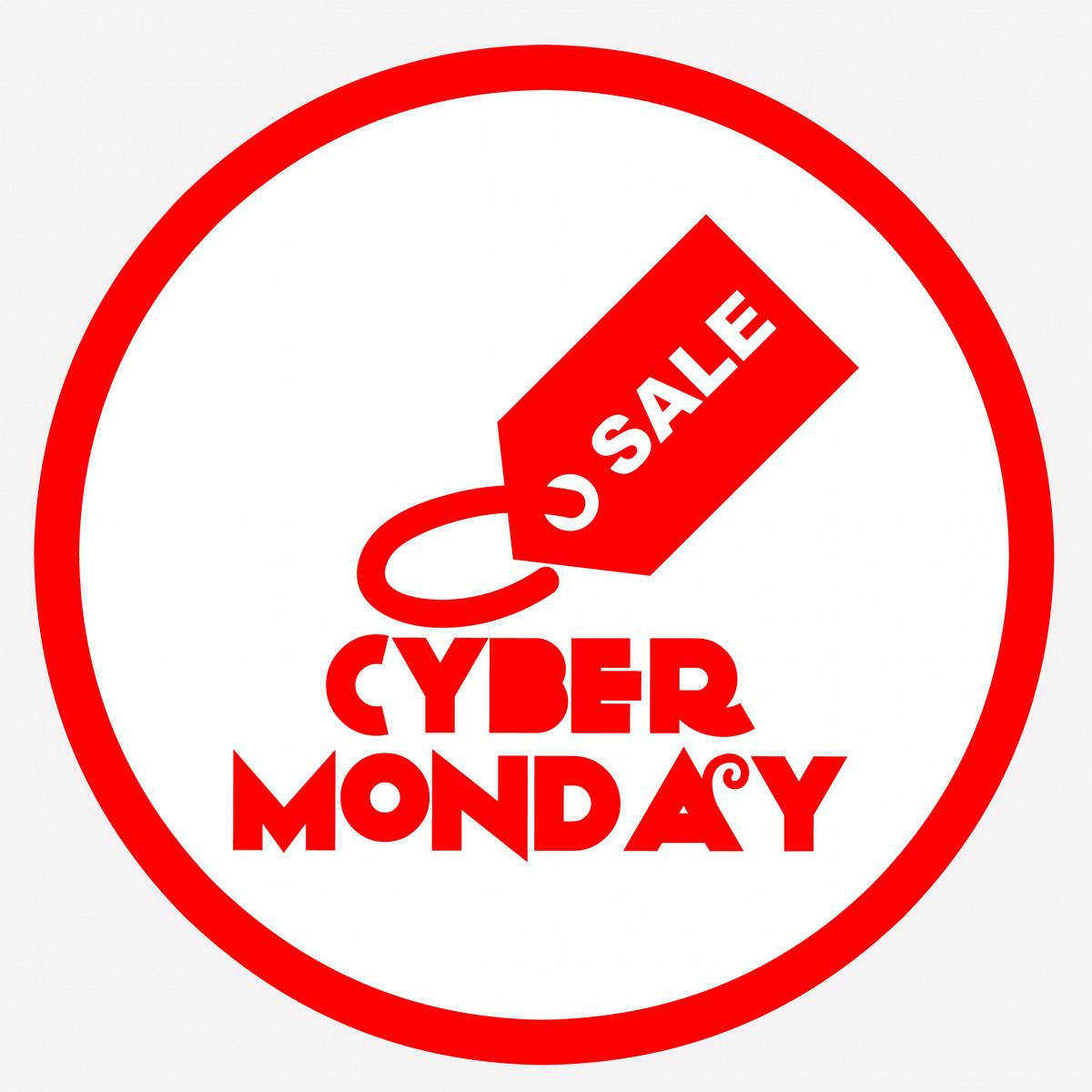 Patio furniture. Clip art of Cyber Monday Sale