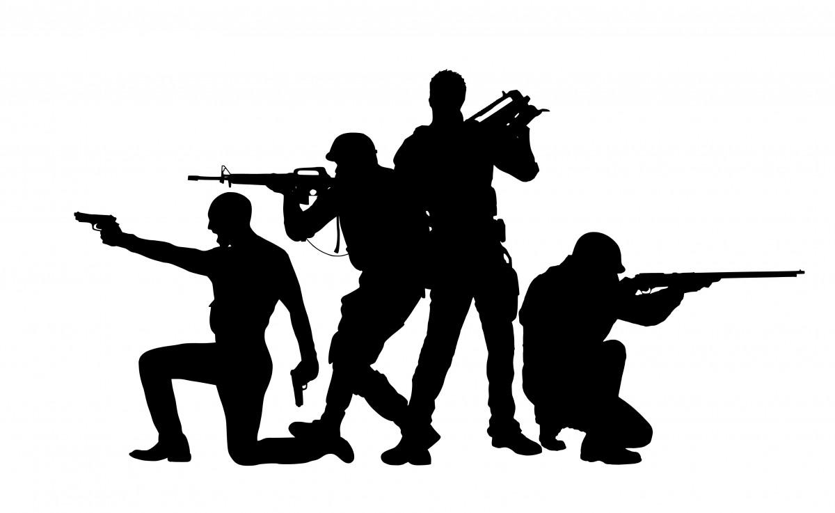 pubg, számítógépes játék, counter strike, tommy, pisztoly, géppuska, puska, csata, lőszer, katona, ravasz, pisztoly, revolver, játszma, meccs, fegyver, páncél, hatálya, játékok, gamer, fortnite, sziluett, fekete és fehér, szög, monokróm
