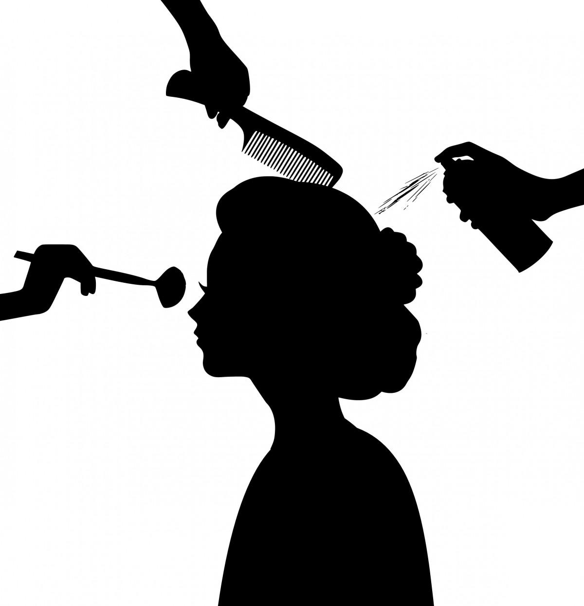 A Nail Art Beauty Salon Fashion Makeover Game For Girls: Fotos Gratis : Silueta, Belleza, Salón, Peluquería