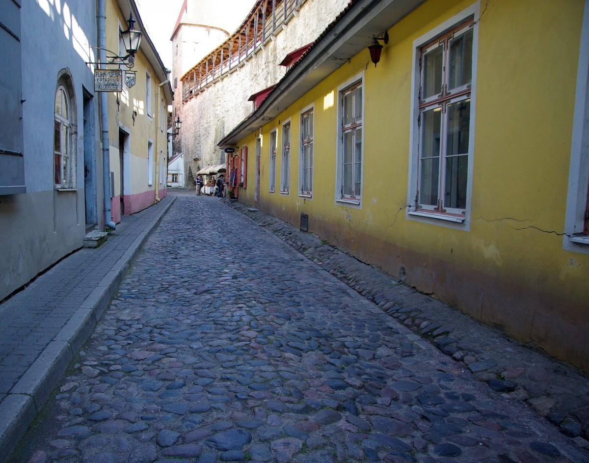 Architecture Road Street House Town Alley Wall Color Facade Blue Lane  Infrastructure Estonia Tallinn Neighbourhood Pavers