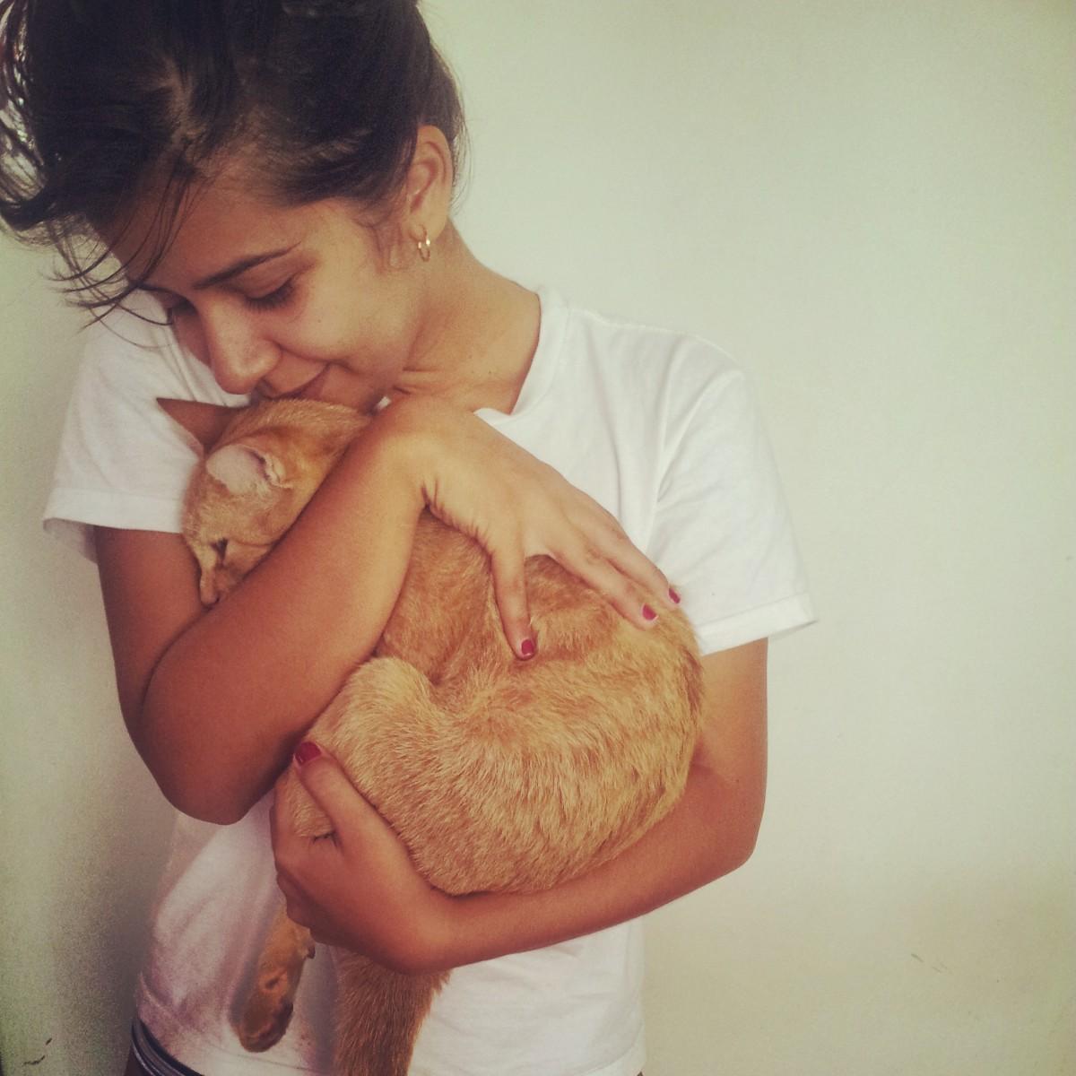 Online dating girl loves cats