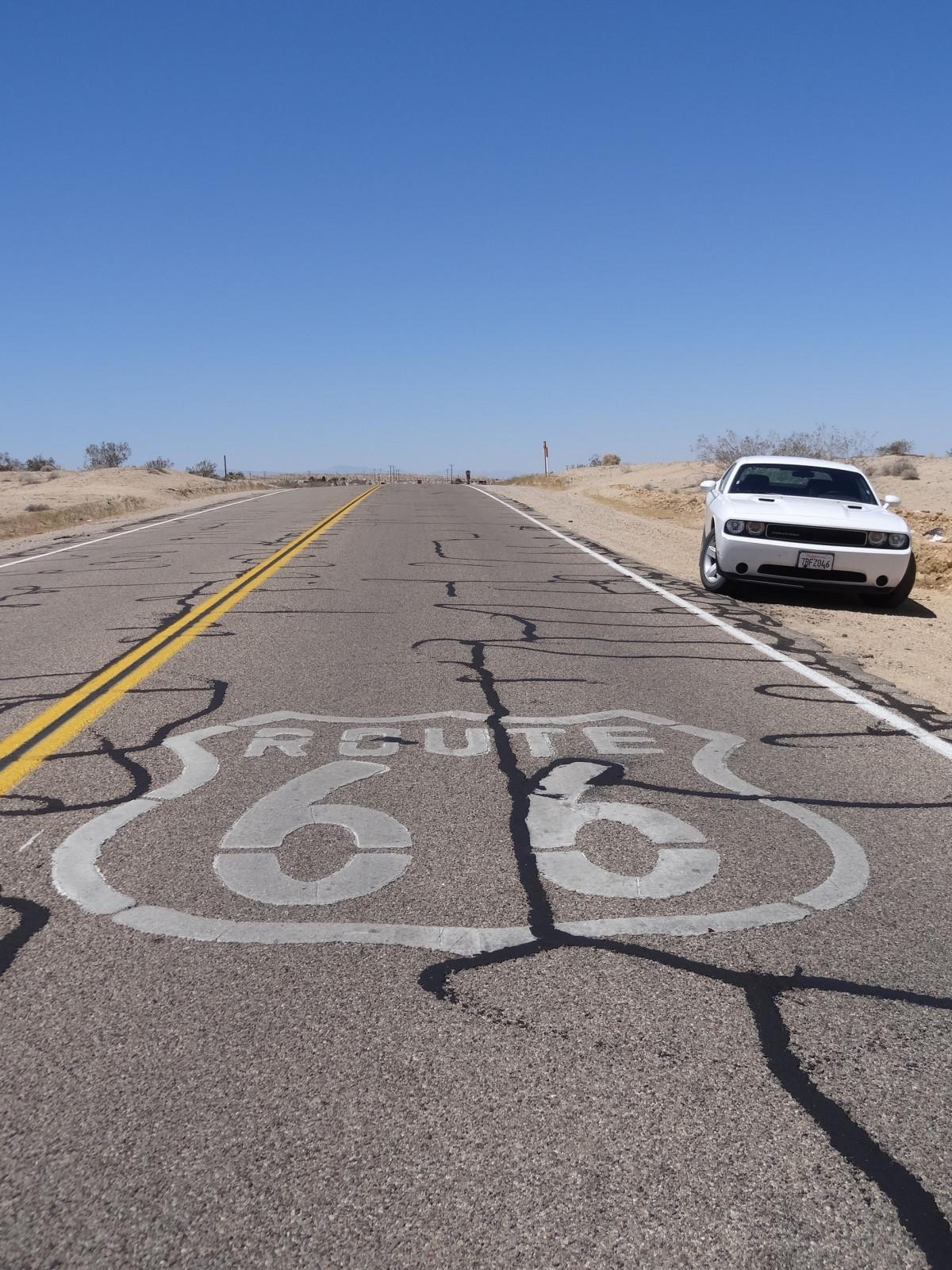 sand sky road car desert highway Free