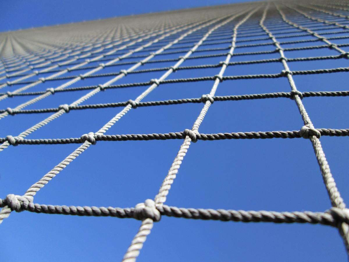 Веревочная сетка с квадратными ячейками своими руками