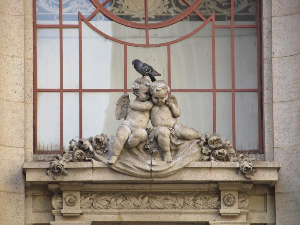 Free Images Monument Statue Sculpture Art Pigeon