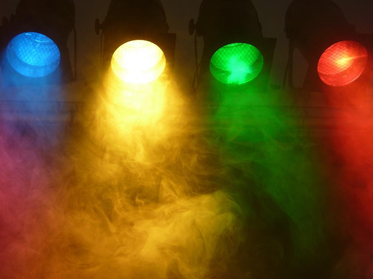 colorful follow spot lights -#main