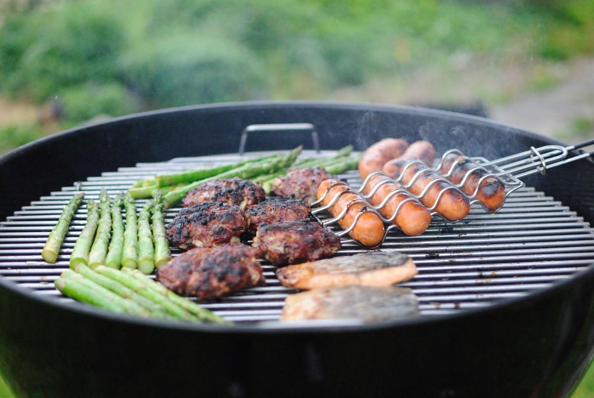 plat repas aliments cuisine produire légume moi à barbecue cuisine cuisinier nourriture asiatique grillage Barbecue grill Grill (s) extérieur