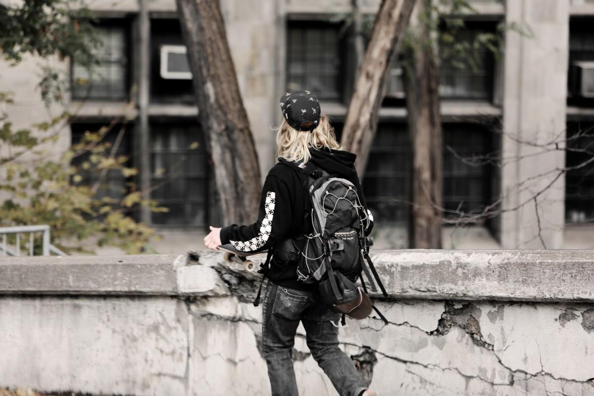 černé teen oblečení