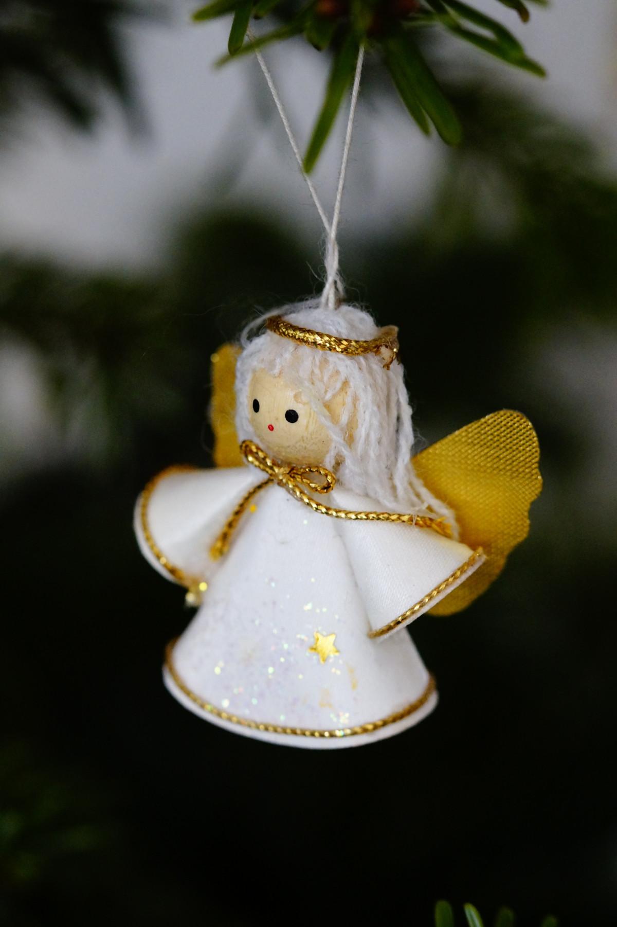 Как сделать ангелочка на елку своими руками