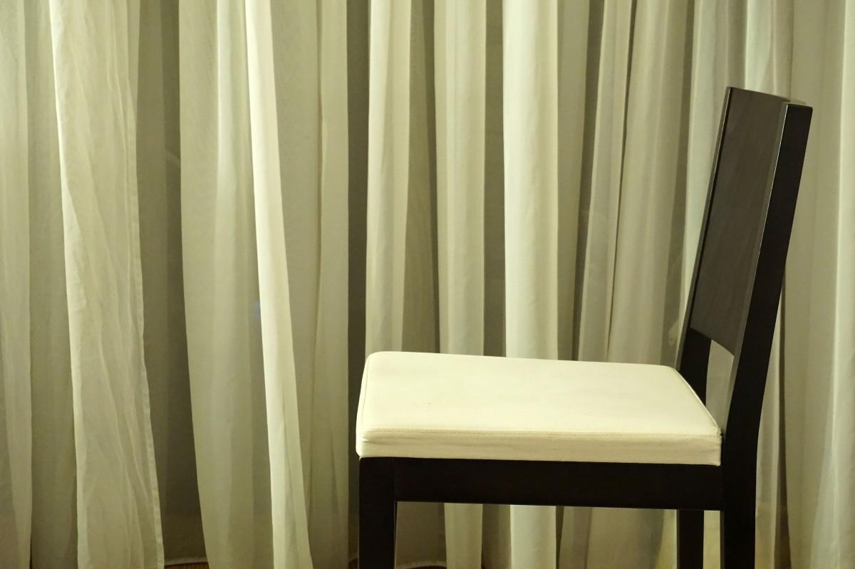 Nacht  Sessel Innere Vorhang Möbel Zimmer Dekor Sahne Modern Material  Modernes Interieur Innenarchitektur Textil