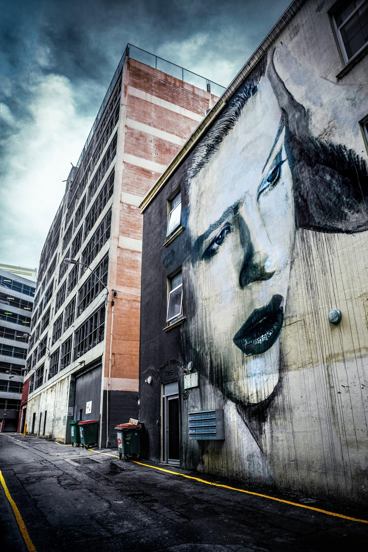 road, street, city, wall, graffiti, street art