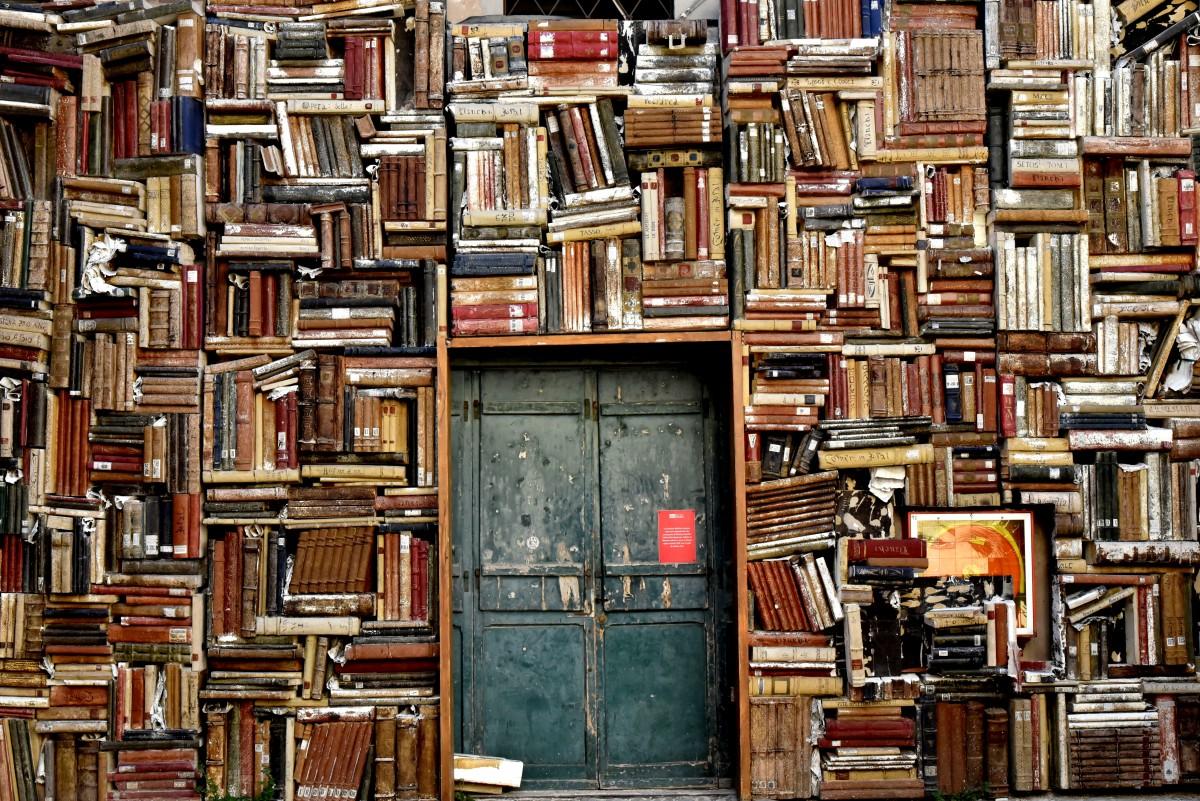 Holz Stadt Eingang Farbe Italien Möbel Tür Malerei Kunst Farben Bibliothek Entwurf Bücher Kultur moderne Kunst Szenographie Bodenbelag Marken Polystyrol Pesaro Buchhandlung