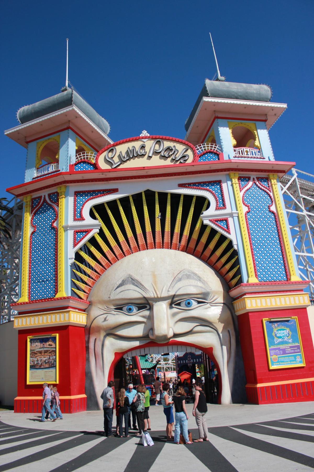 Free Images : carnival, amusement park, entrance, landmark ...