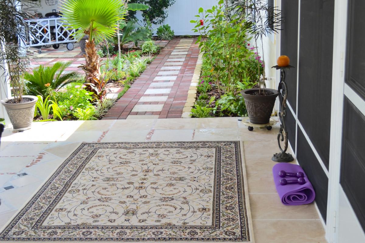 Fotos gratis villa casa flor comida espacio patio for Decorar piso senorial