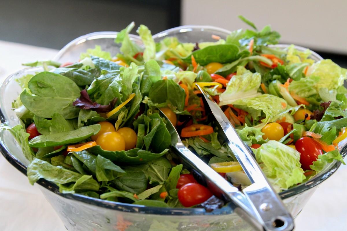 Free images dish food green produce cuisine lettuce - Green vegetarian cuisine ...
