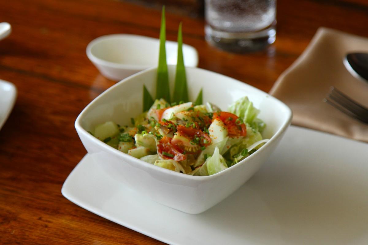 Free images dish meal food salad green - Green vegetarian cuisine ...