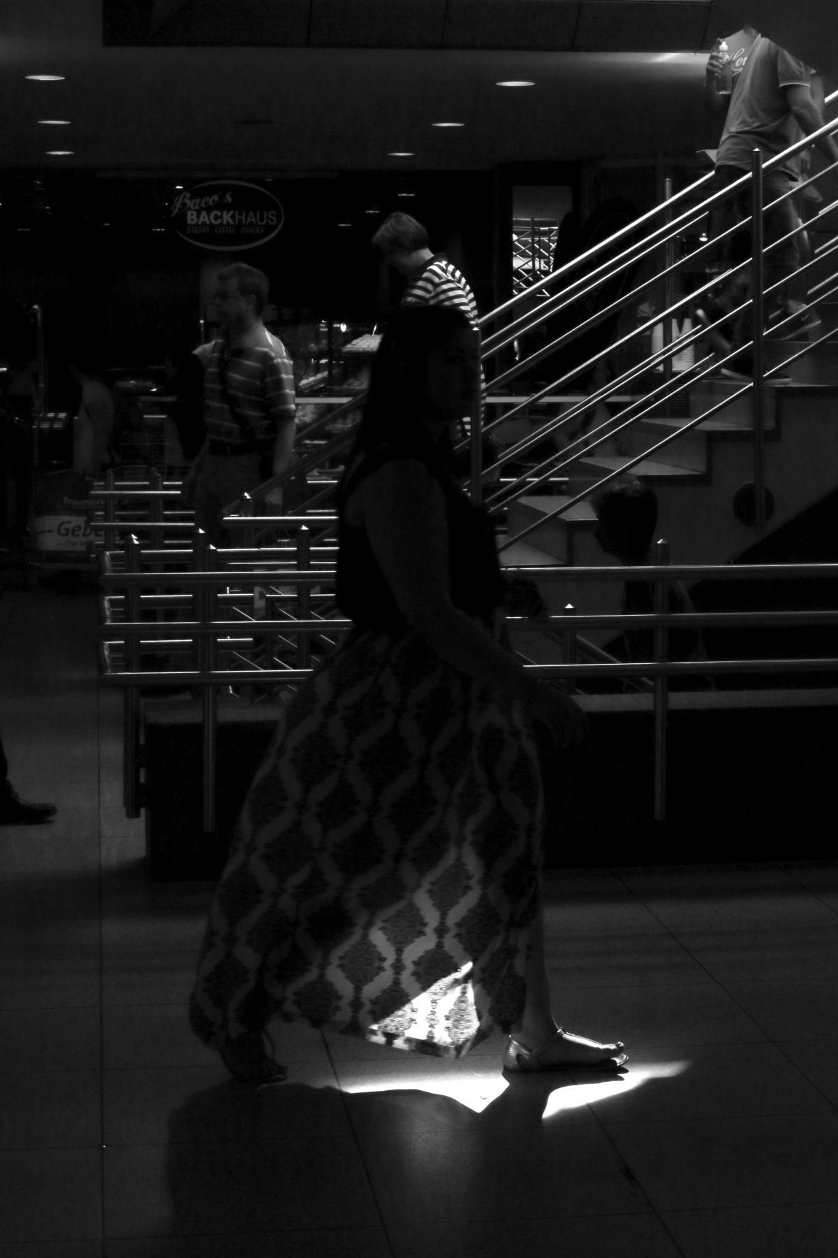 Roche, la personne, lumière, noir et blanc, gens, femme