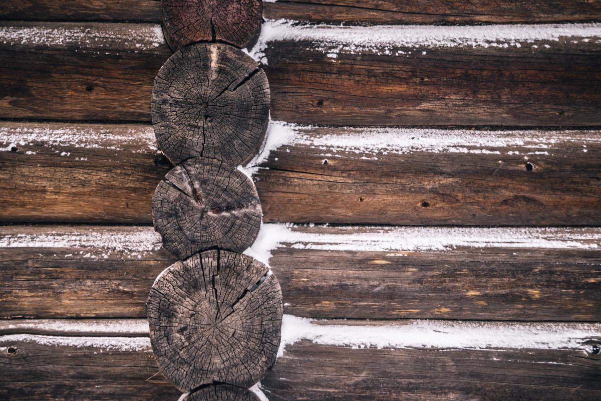 Картинка стены сруба