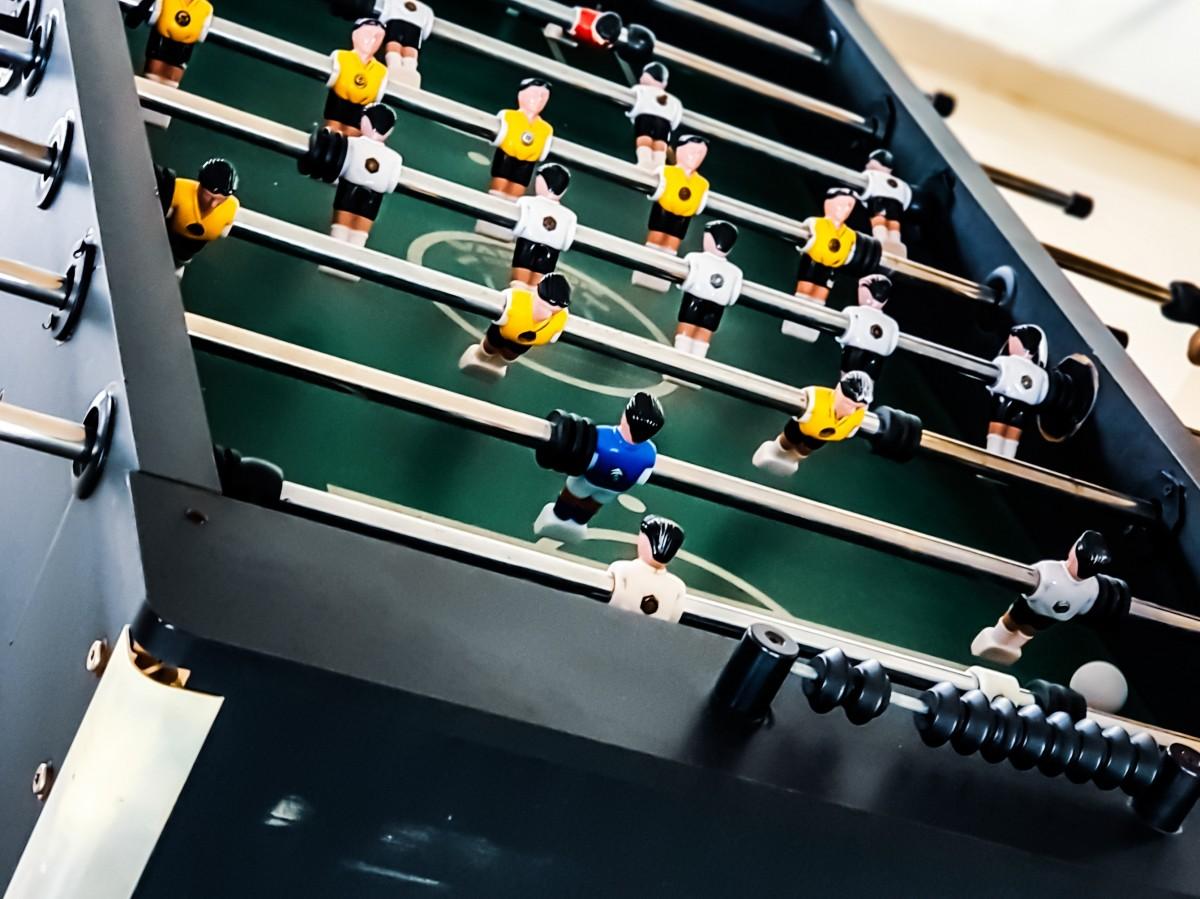 Gambar : merapatkan, peralatan, foosball, sepak bola ...