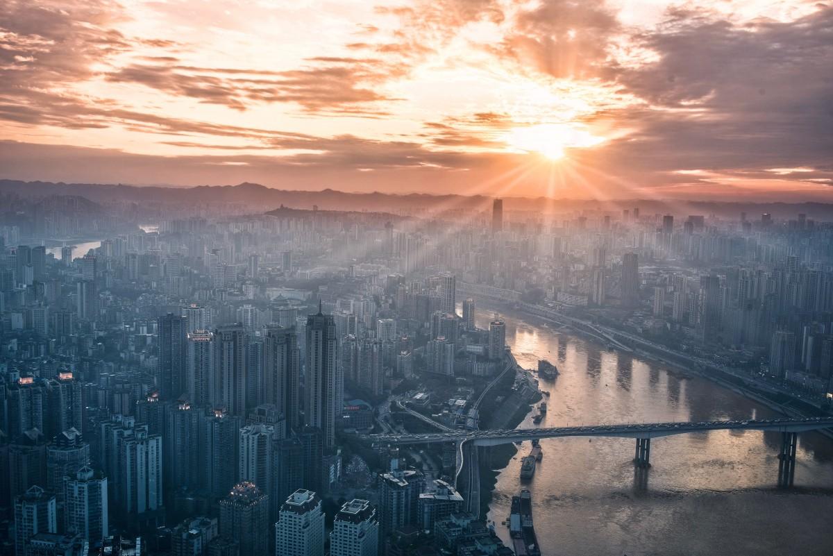 картинки город на восходе солнца
