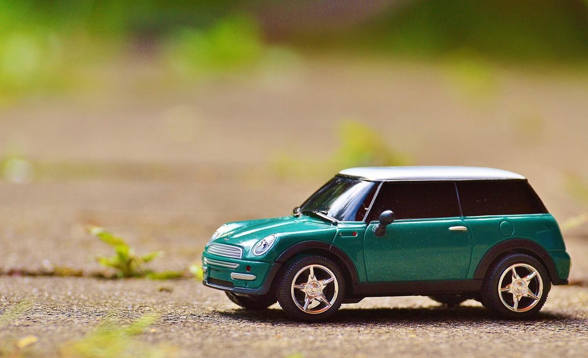 Gambar Makro Mobil Antik Miniatur Bangunan Mobil