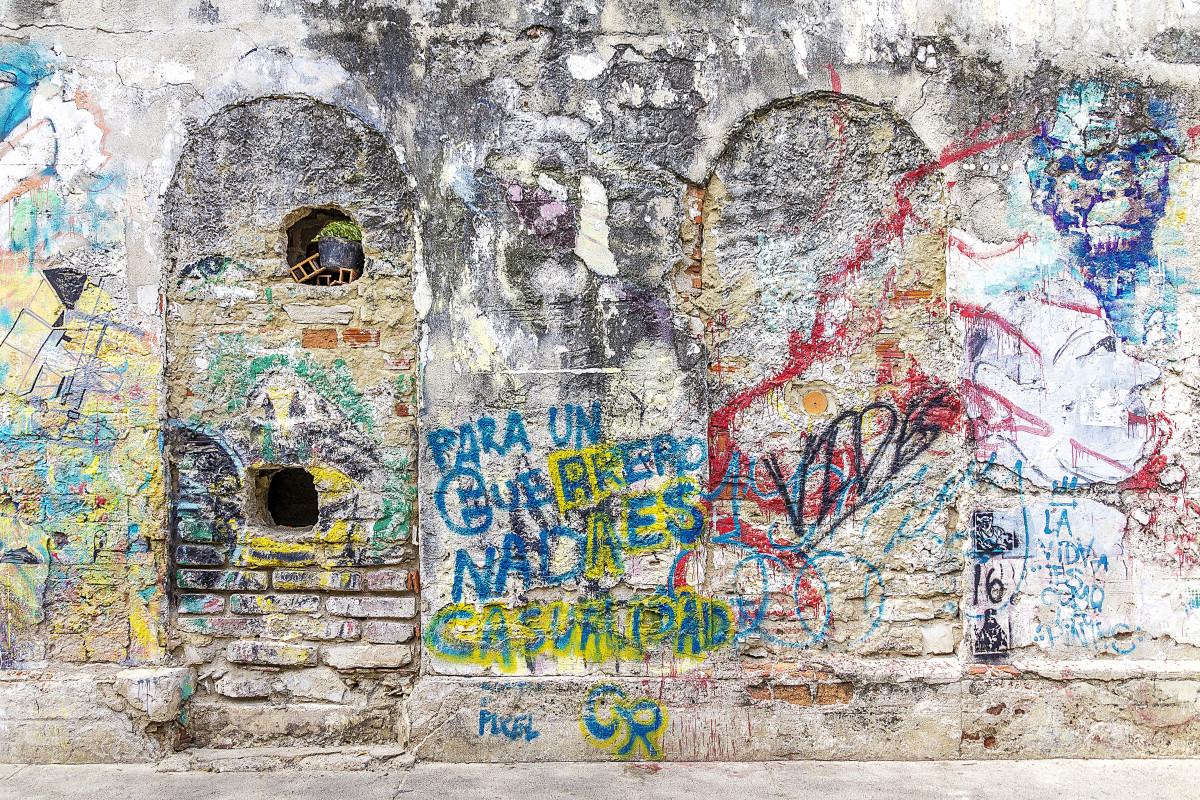 Graffiti art background - City Urban Wall Color Artistic Grunge