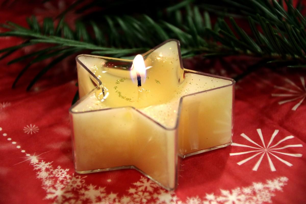 star gift decoration flame candle christmas - Candle Christmas Lights
