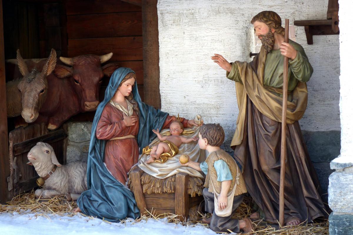 тогда иисус родился в хлеву картинка принципе